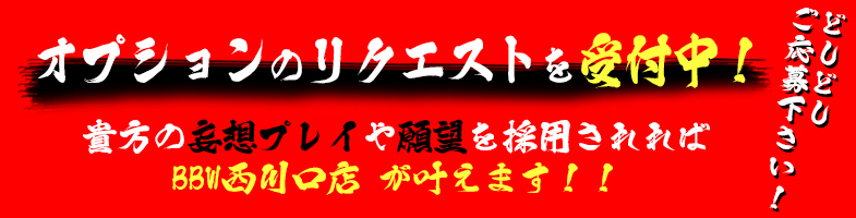西川口ぽっちゃり風俗 BBWオプションのリクエスト